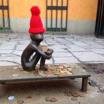 Stockholm's tiniest sculpture- Järnpojke- 20.03.2014