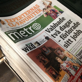 Photo stoRy for today ™ – Metro- the world's third free newspaper