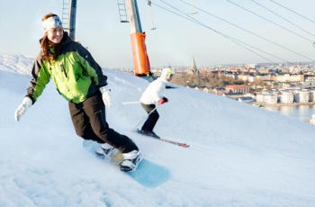 Winter sports within Stockholm in January