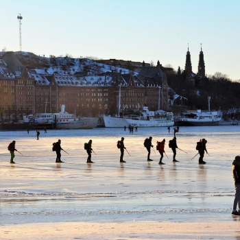 Skating in the heart of Stockholm